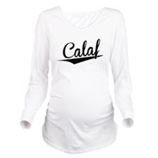 Calaf, Retro, Long Sleeve Maternity T-Shirt