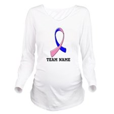 Custom Male Breast Cancer Long Sleeve Maternity T-