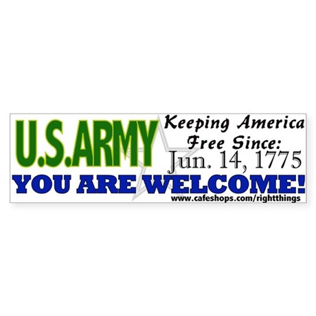 US Army Keeping America Free Bumper Sticker