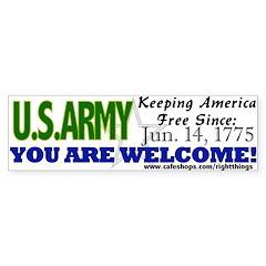 US Army Keeping America Free Bumper Sticker