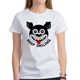 """Keep Smiling"" vintage logo women's T-shirt"