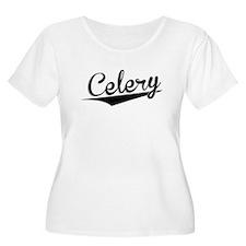 Celery, Retro, Plus Size T-Shirt