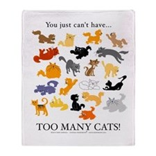 Too Many Cats! Throw Blanket