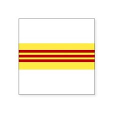 "Cute Vietnam flag Square Sticker 3"" x 3"""