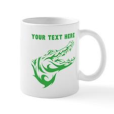 Custom Green Alligator Head Mugs