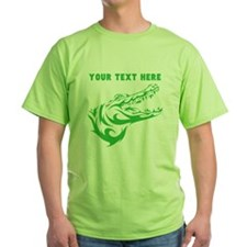 Custom Green Alligator Head T-Shirt