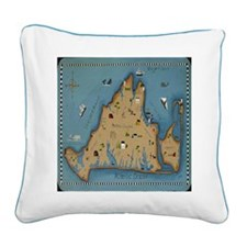 Vineyard Square Canvas Pillow
