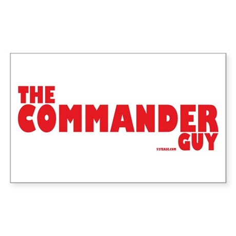 The Commander Guy Rectangle Sticker