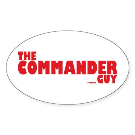 The Commander Guy Oval Sticker