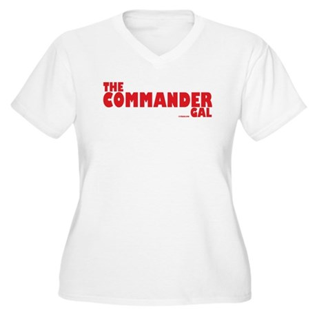 The Commander Gal Women's Plus Size V-Neck T-Shirt