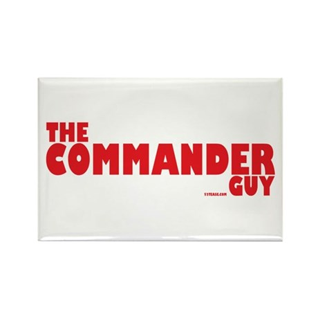 The Commander Guy Rectangle Magnet