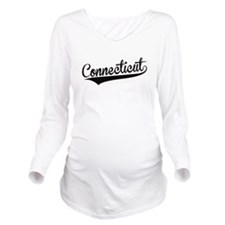 Connecticut, Retro, Long Sleeve Maternity T-Shirt