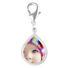 cute baby with blue eyes Charms