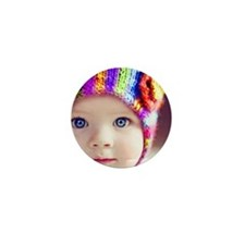 cute baby with blue eyes Mini Button (100 pack)