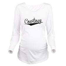 Courtney, Retro, Long Sleeve Maternity T-Shirt