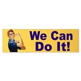 Rosie the Riveter Bumper Car Sticker