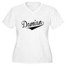 Damian, Retro, Plus Size T-Shirt