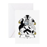 Rees coat of arms Greeting Cards (10 Pack)