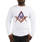 Embedded Masonic Compasses Long Sleeve T-Shirt