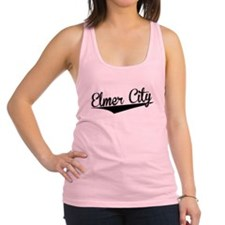 Elmer City, Retro, Racerback Tank Top