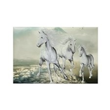 White Horses On The Beach Magnets