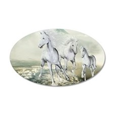 White Horses On The Beach Wall Decal