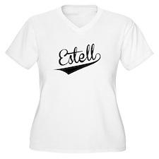 Estell, Retro, Plus Size T-Shirt