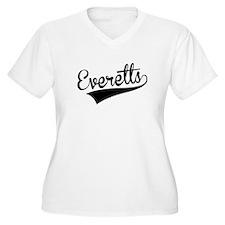 Everetts, Retro, Plus Size T-Shirt