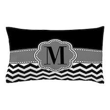 Gray Black Chevron Personalized Pillow Case