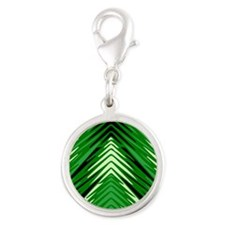 Forest Silver Round Charm