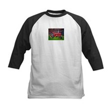 Red Tractor HDR Style Baseball Jersey