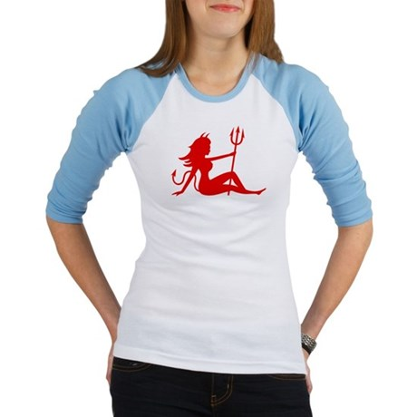 BAD MUDFLAP GIRL DEVIL Jr. Raglan