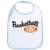Basketball Girl Bib