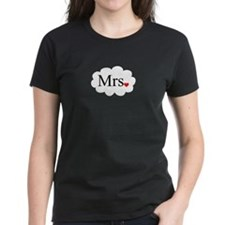 Mrs with heart dot on cloud (Mr and Mrs set) T-Shi