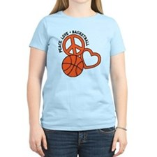 PEACE, LOVE, B-BALL T-Shirt