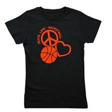 PEACE, LOVE, B-BALL Girl's Tee