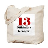 13 Teenager Tote Bag