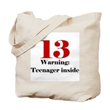 13 Warning Tote Bag