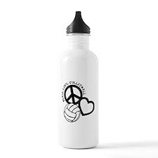 PEACE, LOVE, VB Water Bottle