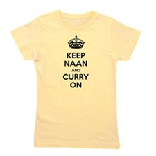 Keep Naan Curry On in Black Girl's Tee