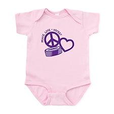 PEACE-LOVE-HOCKEY Infant Bodysuit