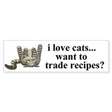 cat recipes bumper sticker