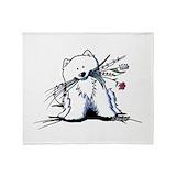 Samoyeds Fleece Blankets
