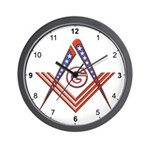 American Free Mason Wall Clock