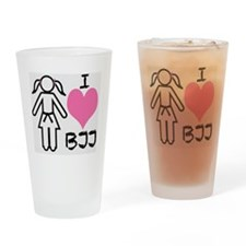 I love BJJ Drinking Glass