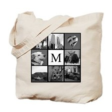 Monogrammed Photo Block Tote Bag