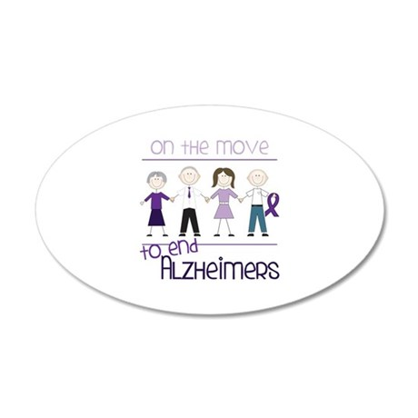 ON THE MOVE TO END ALZHEIMERS Wall Decal