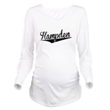 Hampden, Retro, Long Sleeve Maternity T-Shirt