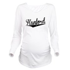 Hanford, Retro, Long Sleeve Maternity T-Shirt