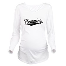 Hemming, Retro, Long Sleeve Maternity T-Shirt
